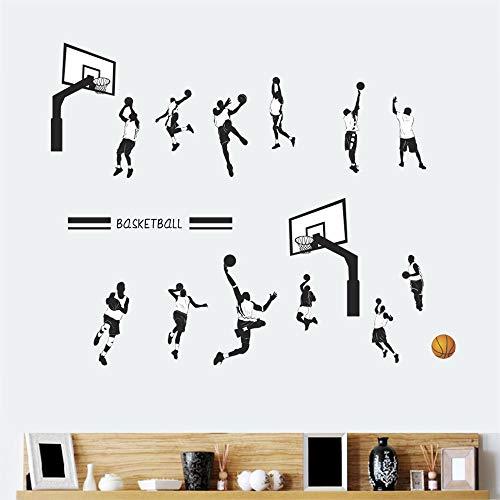 - ufengke Basketball Wall Stickers Layup Jump Shot Dunk Wall Decals Art Decor for Boys Kids Bedroom Nursery DIY