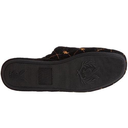 Playboy - Zapatillas de casa para hombre Negro
