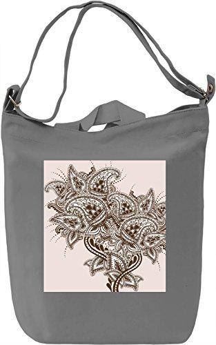 Abstract Flower Borsa Giornaliera Canvas Canvas Day Bag| 100% Premium Cotton Canvas| DTG Printing|