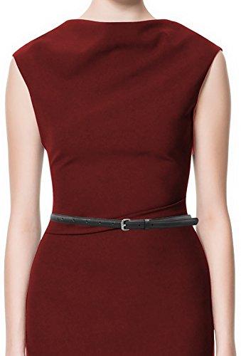 Skinny Black Belt (LUNA Premium Patent Leather Skinny Belt - 1/2