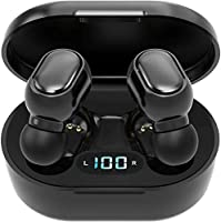 Écouteurs Intra-Auriculaires sans Fil Bluetooth 5.0 avec boîtier de Chargement, Microphone intégré, Commande Tactile...