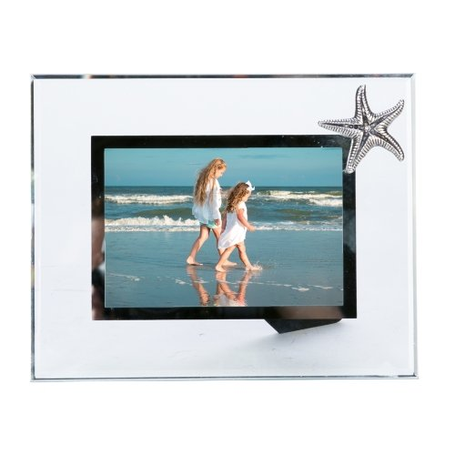 Starfish Frame - Glass and Pewter Photo Frame with Starfish - Holds One 4
