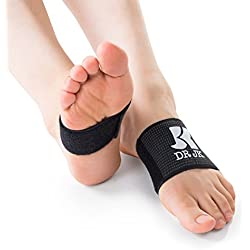 DR JK (Medium) Adjustable Plantar Fasciitis Compression PedPal, Get Customized Foot Arch Pressure with Arch Support Sleeves and Inserts, For Women and Men to Wear in Shoes, Sandal and Barefoot