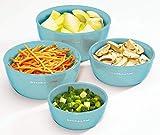 KitchenAid Classic Prep Bowls, Set of 4, Aqua Sky