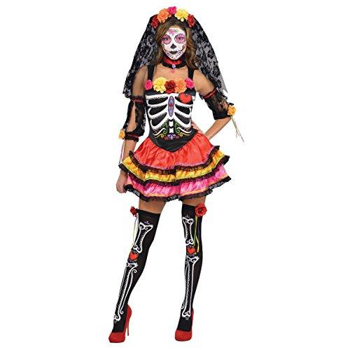 Womens Day Of The Dead Senorita Costume Size Small (2-4)