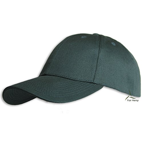 (Fair Hemp Hemp and Organic Cotton Structured Baseball Cap (Forest Green))
