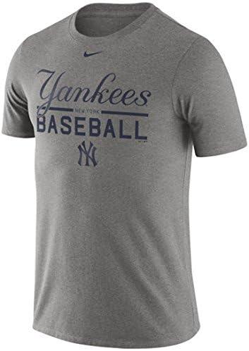 Nike New York Yankees Camiseta de práctica, Gris: Amazon.es: Deportes y aire libre