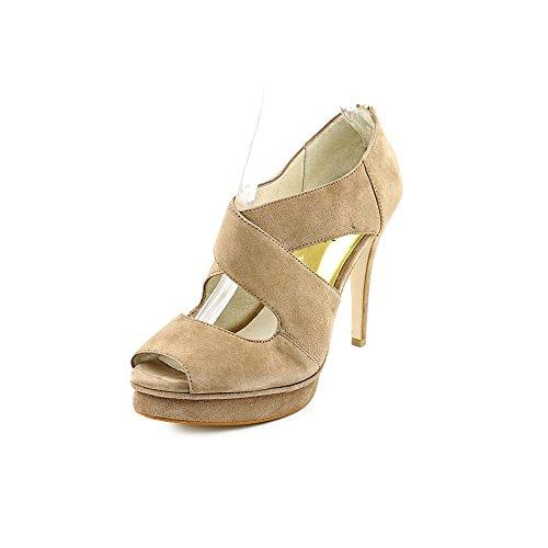 ross Strap Womens Peep Toe Suede Platforms Heels Dark Dune Shoes (11) (Michael Kors Suede Platform Pumps)