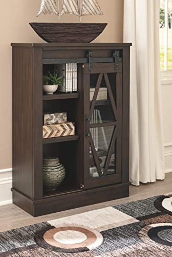 Signature Design by Ashley - Bronfield Accent Cabinet - Sliding Door - Brown