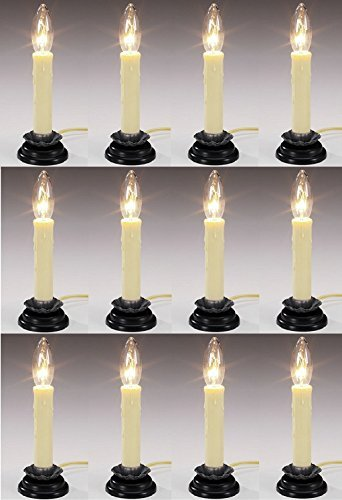 Darice Crafts 5201-77 6'' Electric Country Window Candle Lamp - Quantity 12