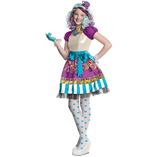 Ponce Girls Ever After High Madeline Mad Hatter Costume Dress Childs (Madeline Costume For Adults)