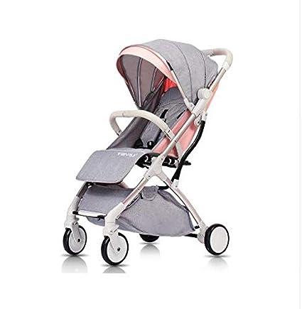 Amazon.com : Mini cochecito de bebé portátil cochecito plegable luz ...