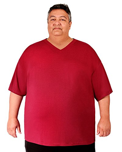 6b13e31d923 Big Boy Bamboo Men s V-Neck Bamboo Short-Sleeve T-Shirt (6XL