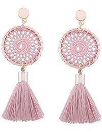 Women Jewelry Fashion Bohemian Vintage Long Tassel Fringe Boho Dangle Earrings