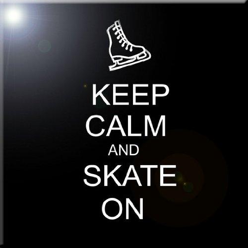 12 x 12 Rikki Knight Keep Calm and Skate On Black Color Design Ceramic Art Tile