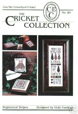 The Cricket Collection: Regimental Stripes (Craft Book, Cross Stitch) (The Cross-Eyed Cricket, #84) - Stripe Cricket