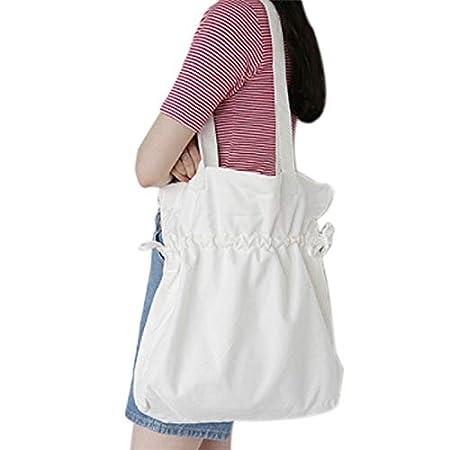 Chakil Bolso de Hombro Bolsa Bolsa de Lona de Algodón Bolsa Lona Bolsa de Shopper niña Mujer Bolsas Reutilizable Bolsa Shopping Bolsa Tote Ideal para ...
