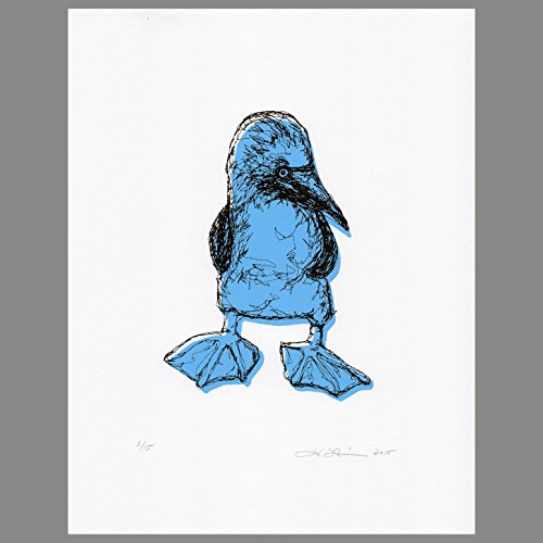 Blue-Footed Booby Serigraph