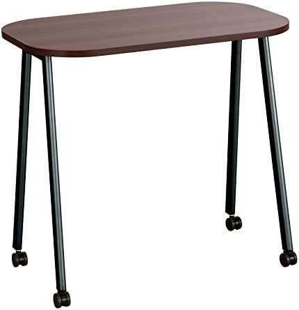 Safco Products Personal Mobile Work Table, Walnut Black