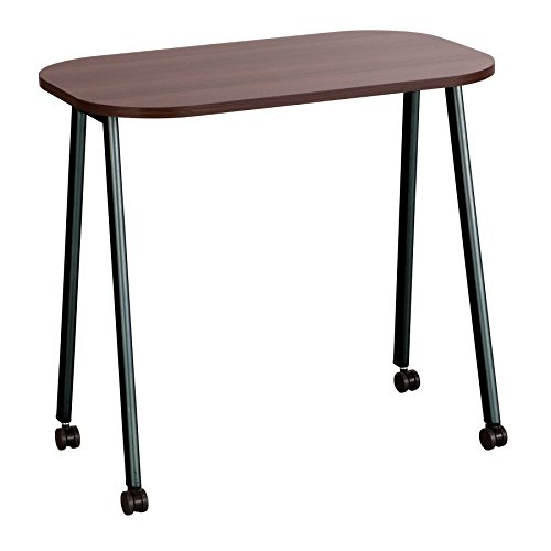 Safco Products 5091WL Personal Mobile Work Table, Walnut/Black (Work Table Rectangular)