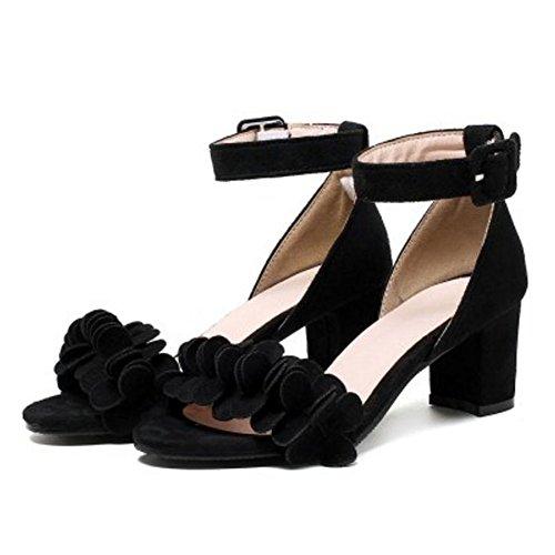 Femmes Mode Coolcept Les Bloc Noir Femmes Spartiates Les Coolcept Talon Cheville q4tSC