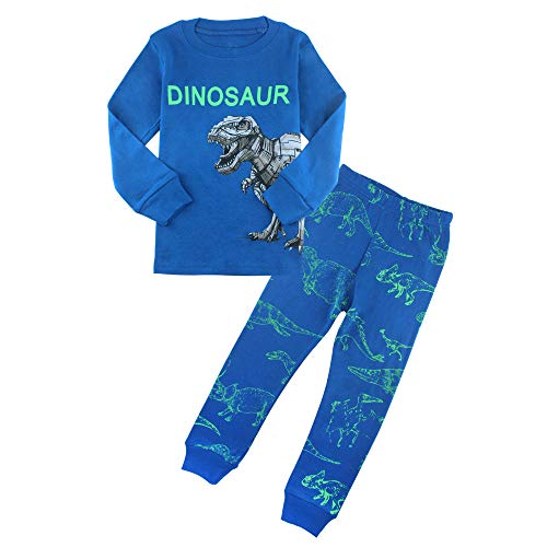 (ZFBOZS Dinosaur Little Boy Pajamas Long Sleeve Pjs Sets for Toddler Clothes 100% Cotton Sleepwears)