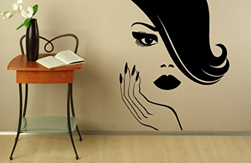 Manicure Wall Decal Wall Vinyl Sticker Spa Beauty Nail, used for sale  Delivered anywhere in Canada