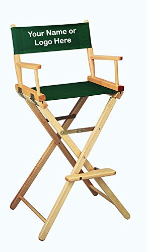 imprinted bar height directors chair