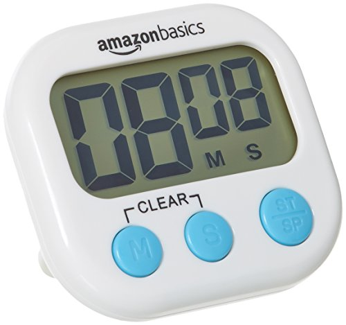 AmazonBasics Simple Digital Kitchen Timer with Stop clock, Battery included