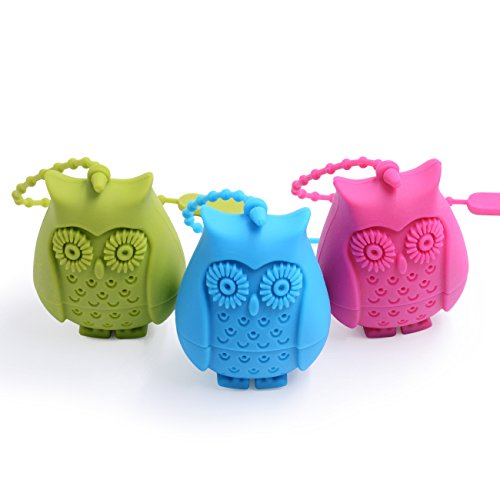 Olmesar Tea Infuser - Set of 3 FDA Silicone Tea Strianer - Loose Tea Steeper - Tea Maker Gift For Friends & Lovers