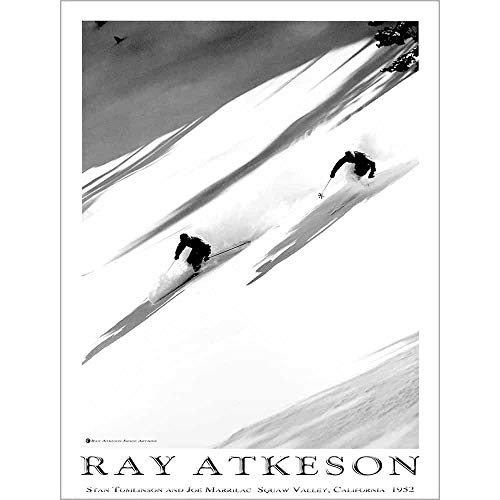 Atkeson Ski Poster of Squaw Valley, California, Size 18 x 24 inches