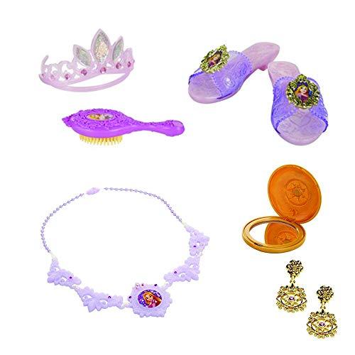 Rapunzel Costume Jewelry Accessories Bundle Set - Tangled