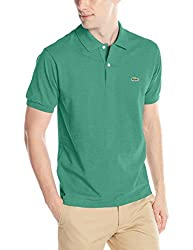 Lacoste Men's Short Sleeve Classic Chine Fabric L.12.64 Original Fit Polo Shirt, Oats Chine, 2