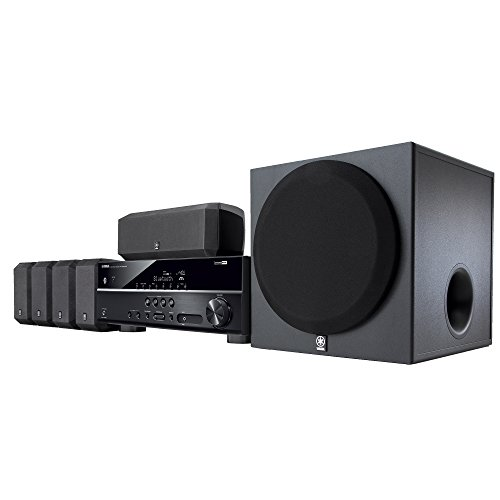 Yamaha YHT-3920UBL 5.1-Channel Home Theater in a Box System with Bluetooth (Home Subwoofer Package)