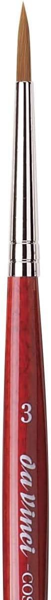 3 Forro sint/ético con mango rojo Fabricado en Alemania Da Vinci Series 1280 cosmotop Spin Braun tama/ño 1 Da Vinci Series 5580 Cosmotop Spin Braun 0//3