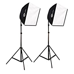 Studio Photography Video Lighting Kit EZ Softbox 24in x 24in 650 Watts