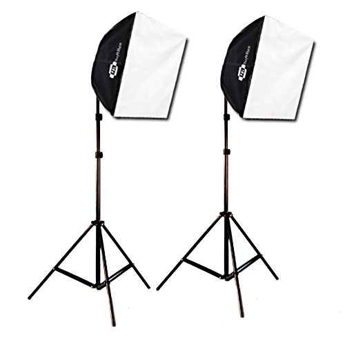 Studio Photography Video Lighting Kit EZ Softbox 24in x 24in 650 Watts by PBL