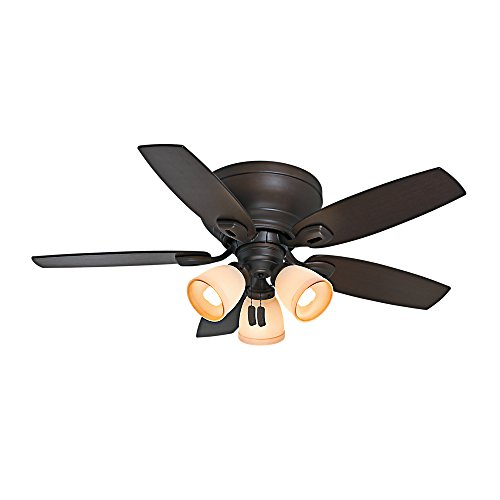 - Casablanca 53188 Durant 44-Inch Maiden Bronze Ceiling Fan with Five Walnut/Smoked Walnut Blades and Light Kit