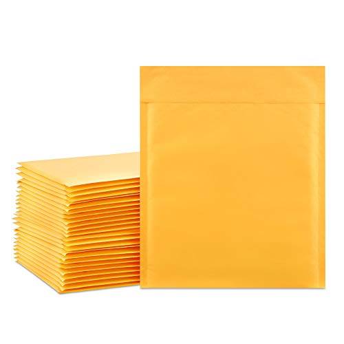 UCGOU #2 8.5x12 Padded Envelopes Kraft Bubble Mailers Gold Bubble Envelopes Pack of 25 Pcs Shipping Envelopes Bags