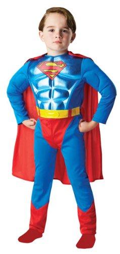 Superman pecho metálico - traje de niño: Amazon.es: Juguetes ...
