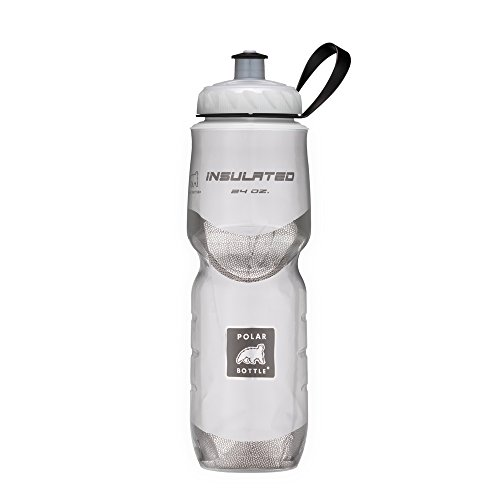 Polar Bottle Insulated Water Bottle (20-Ounce) (White) Cycling Water Bottle