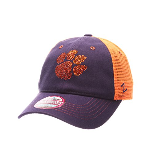 NCAA Clemson Tigers Adult Women Flirt Women's Hat,Adjustable,Purple