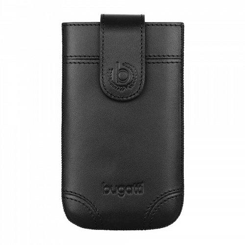 SlimCase Dublin Leder Tasche Case schwarz von bugatti passend für Apple iPhone 3G/3G S