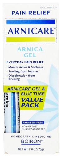 Boiron Arnicare Arnica Gel Value Pack + 1 - 30C Arnica Montana Blue Tube!, (75 g) 2.60 oz.
