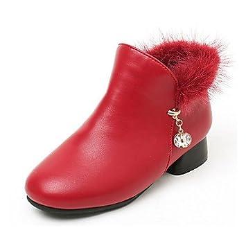 kekafu Zapatos de niñas PU microfibra sintético forro pelusas moda Otoño Invierno Botas/botines botas