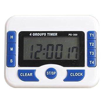 Compra Temporizador digital - PURSUN PS360 temporizador digital Reloj de pantalla (Azul) en Amazon.es