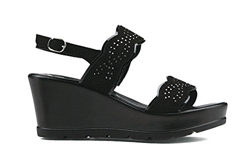 Black Black Women's Fashion Susimoda Sandals aIwzSvxwq
