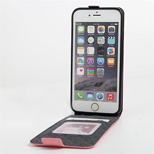 Funda iPhone 6/ iPhone 6S,Manyip Caja del teléfono del cuero,Protector de Pantalla de Slim Case Estilo Billetera con Ranuras para Tarjetas, Soporte Plegable, Cierre Magnético C