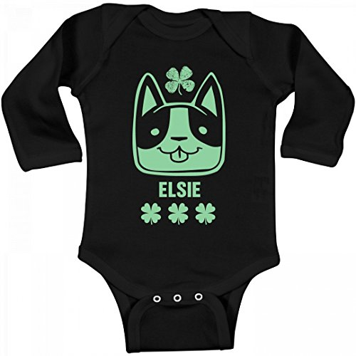 Lucky Irish Elsie With Cat: Infant Long Sleeve - Cat Elsie The