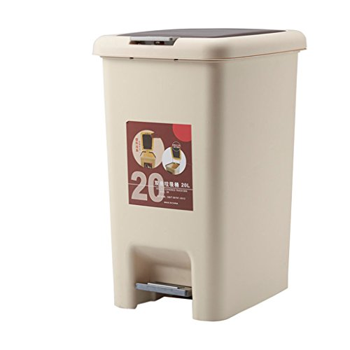 Trash Can Plastic 20 Liter/5 Gallon, Garbage Can With Lid An